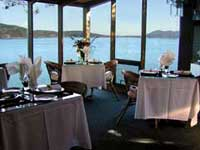 Oceanside has the only Oceanfront dining room on Pender Island savour breakfast as Eagles soar by at eye level. Click to enlarge.